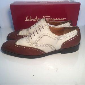 56b06b54de98b Salvatore Ferragamo Shoes - Salvatore Ferragamo Spectator Wingtip Oxfords