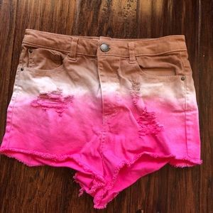 H&M ombré shorts never worn size 4