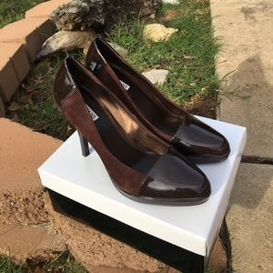 Brown Suede and Patent Alfani Heels Size 10M