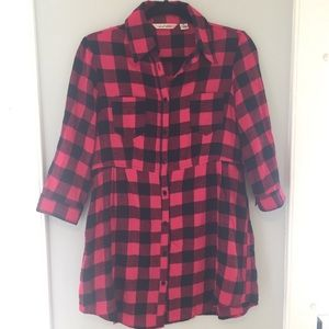 Classic Plaid Flannel Tunic