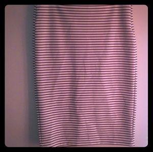Forever 21 stripe pencil skirt size large