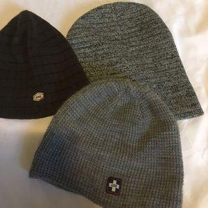 3 winter hats!