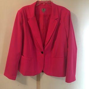 Worthington 3X Hot Pink Blazer