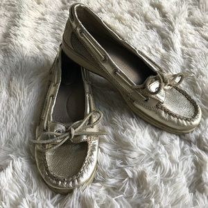 Sperry Top-Sider Gold Loafers Boat Shoes