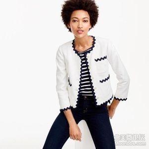 Jcrew size 0 lady jacket with rickrack trim