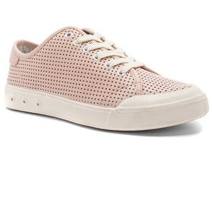 rag&bone Blush Perforated Leather Sneakers 8.5