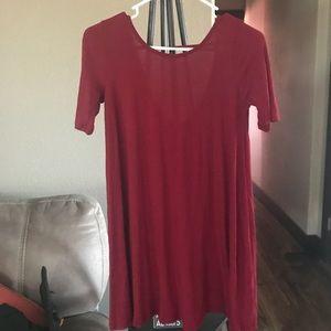Red/maroon wet seal dress