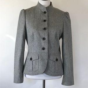 Banana republic gray military style jacket 10
