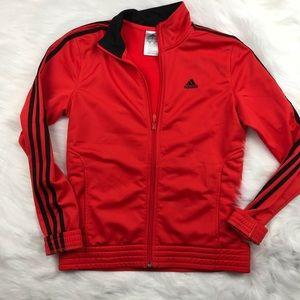 Adidas track jacket orange