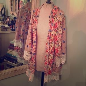 Other - Floral Lace Cardigan