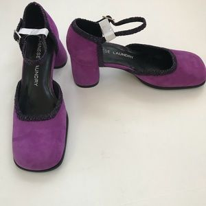 NWOB-Chinese Laundry Purple Square Toe Heels 5.5