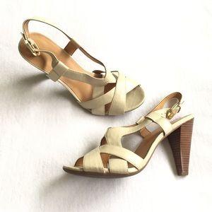 Franco Sarto Amanda Cream Heels