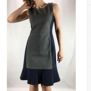J.CREW Colorblock GrayNavy Knit Sleeveless Dress 4