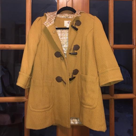 efa21f387 BOGO50%: Peacoat winter jacket mustard color coat