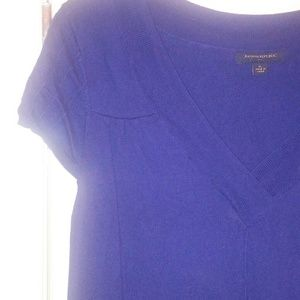Banana republic dark purple sweater dress xl