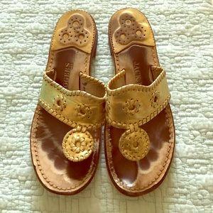 Jack Rogers Navajo Sandal in Gold