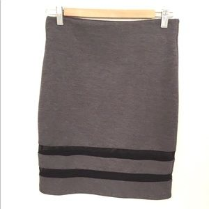 H&M gray and black cotton stretchy skirt