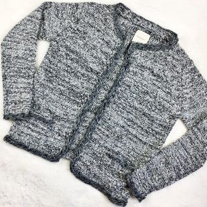 Zara knit cardigan sweater cape with sequins gray