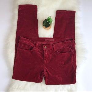 J Brand Velvet Skinny Ankle Midrise Jeans