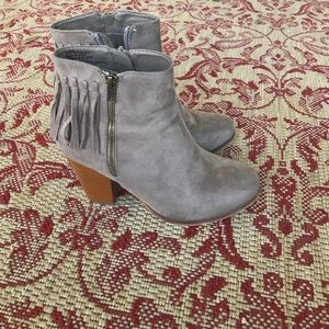 Just Fab Fringe Booties