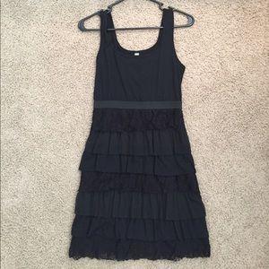 Xhilaration Ruffle Dress with lace details