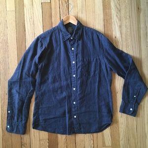 J. Crew Baird McNutt Irish Linen Shirt Slim Fit M