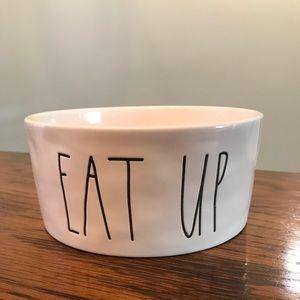 Rae Dunn Eat Up Pet Food Bowl Large Dog Size