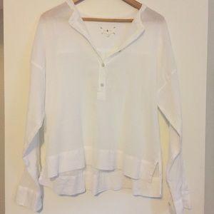 Lou & Grey 100% cotton popover shirt