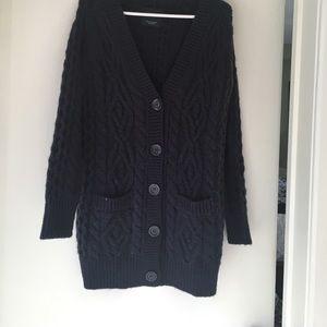 Zara Navy Blue Cardigan Sweater
