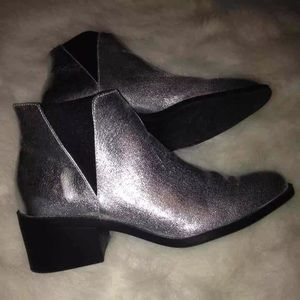 H&M Silver Chelsea Boots