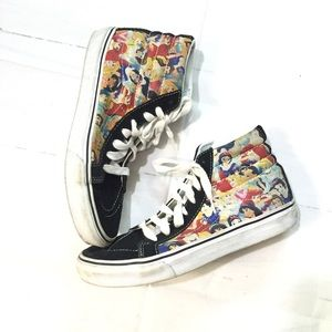 Vans Disney princess Sz 7 hi top sneakers shoes