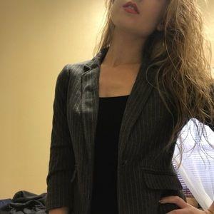 Pinstriped Grey Blazer