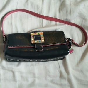 Black & Pink  Purse with cute hearts