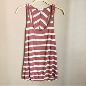 AG terra-cotta  striped tank