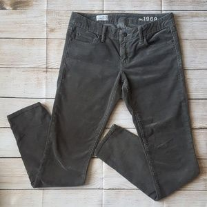Gap Always Skinny gray Corduroy Pants  28/6r EUC