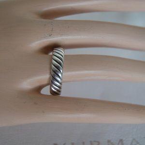 David Yurman Sterling Silver Cable Band Ring 7.5