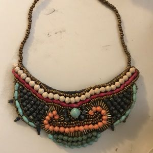Fun colorful statement piece necklace