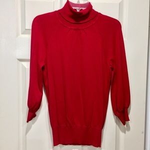 Express red 3/4 sweater