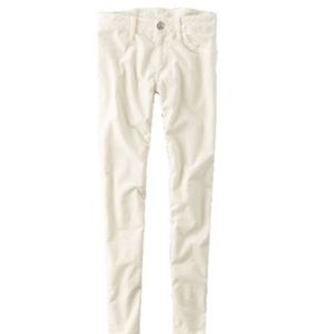 AEO White Velvet X Jeggings