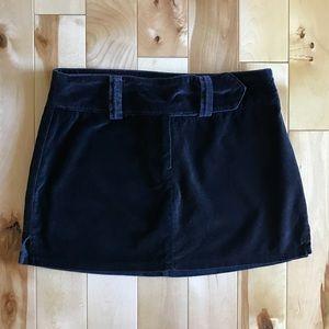 Wet Seal Velvet Mini Skirt