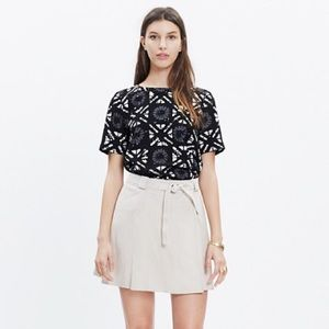 Madewell Industry Button Back Top in Batik Grid
