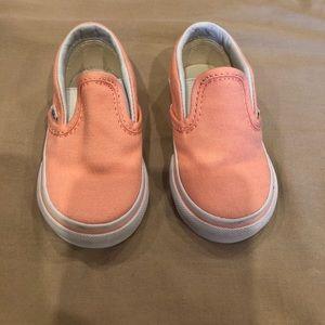 Infant Peach Vans size 4 Great Shape