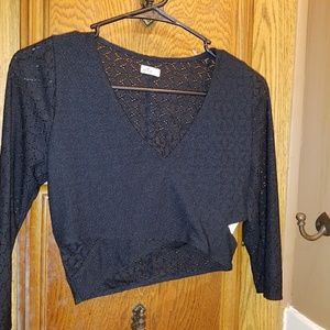HOLLISTER Lace Fitted Crop Top