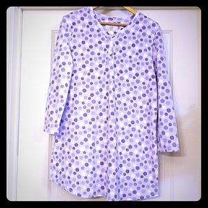 Karen Neuburger Purple Polka Dot Sleep Shirt