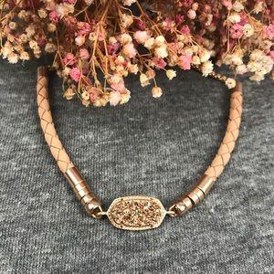 NWT Kendra Scott Cruz Rose Gold Leather Bracelet