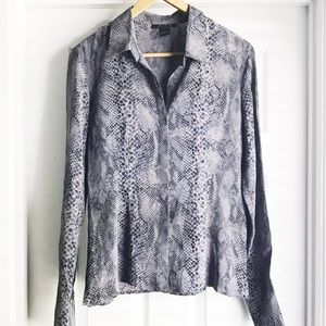 The Limited Silk Snakeskin Blouse