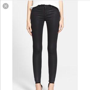 Joie Ankle Zip Super Skinny Jeans Black Diamond