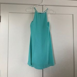 Everly Teal/Turquoise Shift Dress