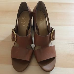 New brown Franco Sarto leather shoes