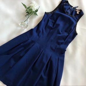 BANANA REPUBLIC Blue Pleated Flare Dress 6P